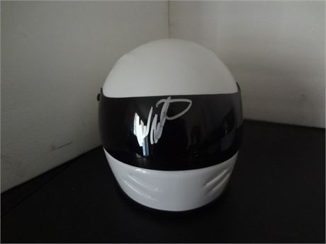 mark martin     signed mini helmet w/coa