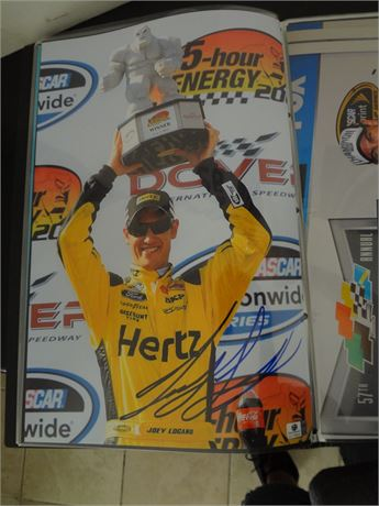 joey logano   signed 11x17 glossy photo