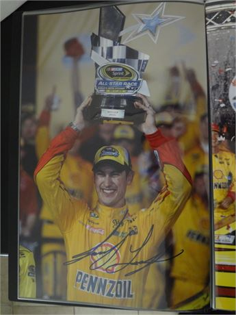 joey logano   signed 11x17 glossy photo #2