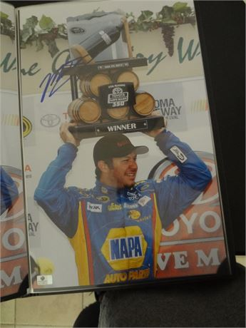martin truex jr    signed 11x17 glossy photo