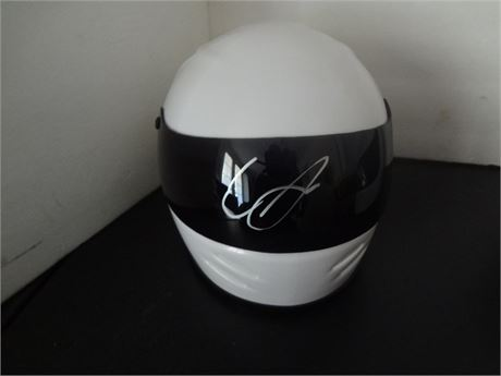 erik  jones signed mini helmet w/coa