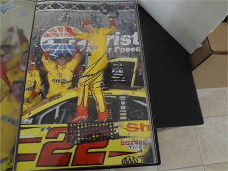 joey logano   signed 11x17 glossy photo #1