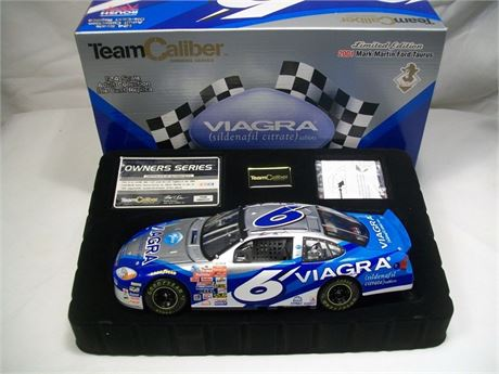 2001 MARK MARTIN #6 VIAGRA TEAM CALIBER OWNERS SERIES 1/24 DIECAST NEW IN BOX