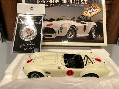1965 ELVIS SHELBY COBRA 427/SC CSX3012 COMPETITION 1/24 UOR FREE SHIPPING