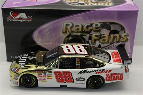 2008 DALE EARNHARDT JR AMP ENERGY / MT DEW GOLD CHROME 1/24 DIECAST NEW IN BOX