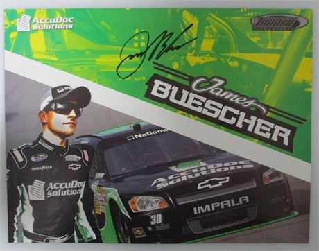 Autographed James Buescher #30 Accu Doc Solutions Hero Card