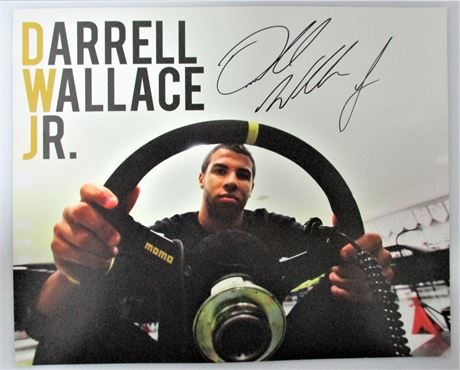Autographed Darrell Wallace Jr. Hero Card