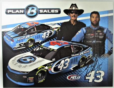 Autographed Bubba Wallace / Richard Petty Plan B Sales #43 Hero Card