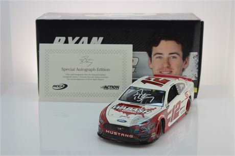 "Ryan Blaney 2019 Autographed "" DIN #1 "" Wabash National 1:24 Liquid Color"