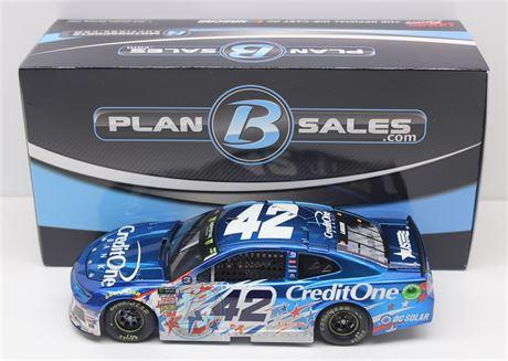 "Kyle Larson 2018 ""DOOR #"" Credit One Bank Chicagoland Raced  1:24 Liquid Color"