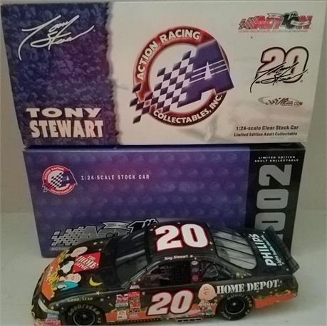 TONY STEWART 2002 PEANUTS CLEAR 1 OF 2508 MADE