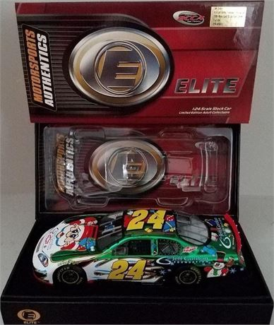 COLOR CHROME JEFF GORDON ELITE 2006 JG FOUNDATION HOLIDAY CAR
