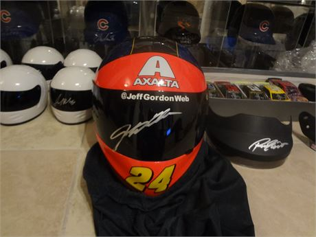 jeff gordon  signed autographed fullsize helmet hall of fame free shipping