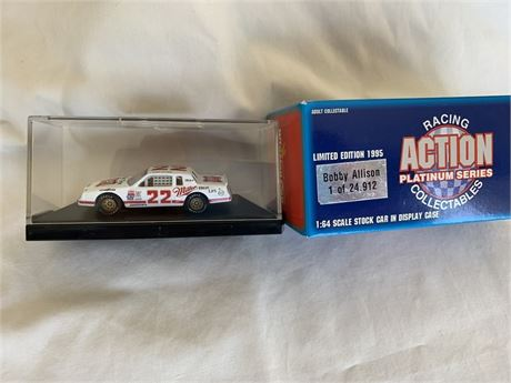 Bobby Allison #22 Miller 1/64 Car- Produced 1995 by Action Collectables