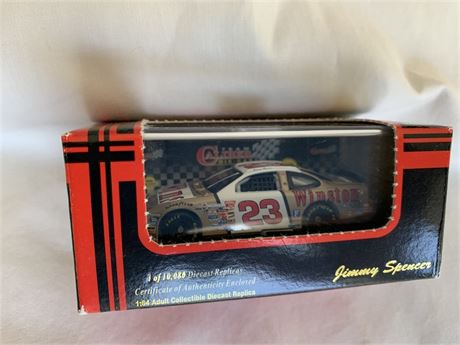 Jimmy Spencer #23 Winston Gold 1/64 Car- Produced 1999 by Team Caliber