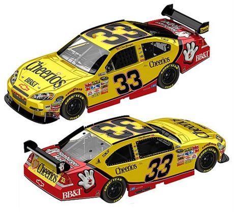 2010 CLINT BOWYER #33 CHEERIOS 1/24 NASCAR DIECAST NEW IN BOX