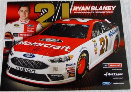 RYAN BLANEY 8.5 X 11 SIGNED HERO CARD