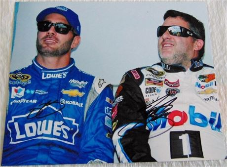 TONY STEWART JIMMIE JOHNSON 8 X 10 SIGNED PHOTO