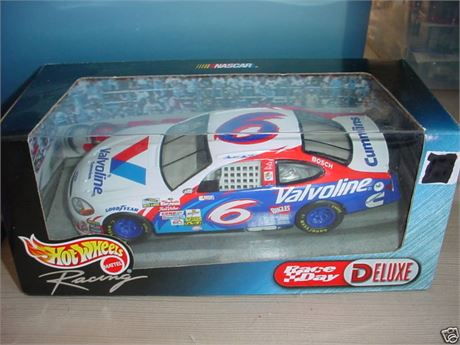 1999 MARK MARTIN #6 VALVOLINE BLACK CHROME DELUXE 1/24 HOT WHEELS FREE SHIP