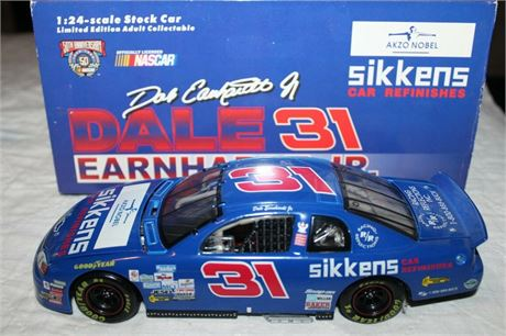 1997 DALE EARNHARDT JR #31 BLUE SIKKENS CAR REFINISHES BWB 1/24 FREE SHIP