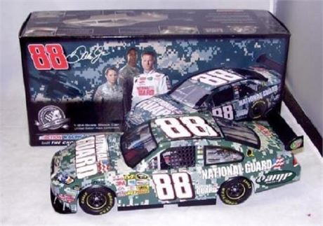 2008 DALE EARNHARDT JR #88 NATIONAL GUARD DIGITAL CAMO 1/24 DIECAST NEW IN BOX
