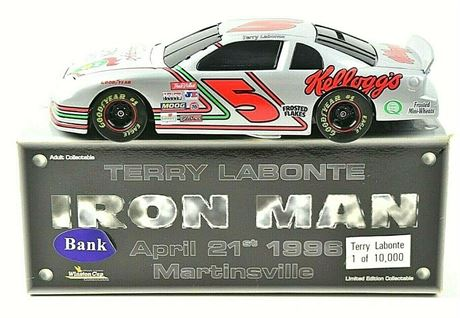 1998 TERRY LABONTE #5 KELLOGG'S BWB IRON MAN 1/24 DIECAST FREE SHIP