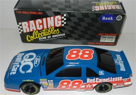 1996 DALE JARRETT #88 QUALITY CARE BWB 1/24 DIECAST HOOD & TRUNK BOTH OPEN